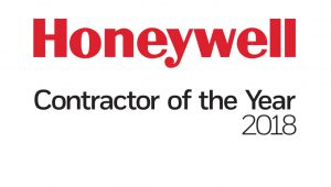 2018 Honeywell Contractor of the Year award!